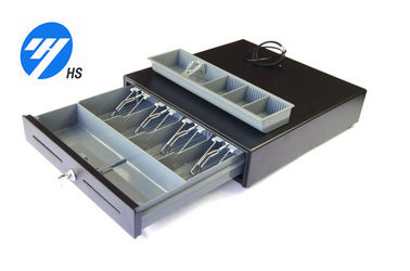 Lockable Electronic Cash Drawer Money Storage Box Plastic Cash Tray 400C